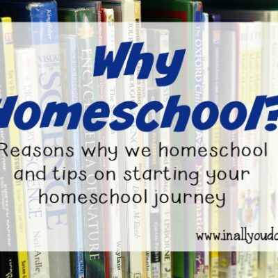 Are you considering homeschool? Feeling overwhelemed? Here are some tips to get you started! :: www.inallyoudo.net