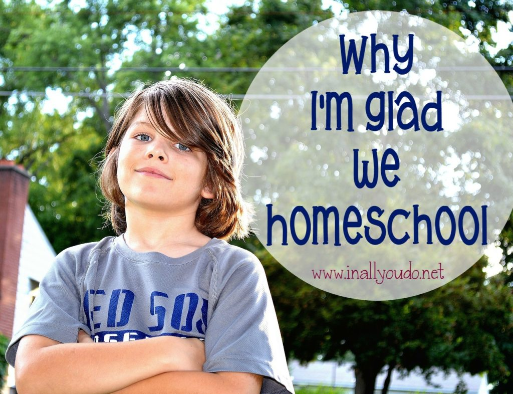 Many people want to know why we chose to homeschool and if it's really worth it. I answer that here today on the blog! :: www.inallyoudo.net