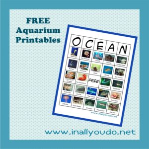 Are you taking a trip the Aquarium soon? Grab these fun BINGO printables to help you make the most of your trip!! :: www.inallyoudo.net