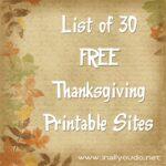 DIY Thanksgiving: A List of FREE Printables