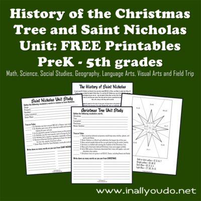 Christmas Tree and Saint Nicholas Unit Study