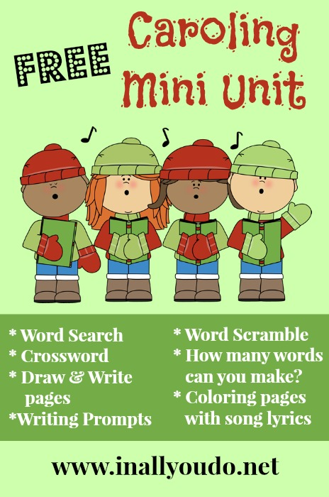 Grab this 46-page FREE Caroling Mini Unit full of activities and puzzles for 1st - 5th grades!! ~ In All You Do