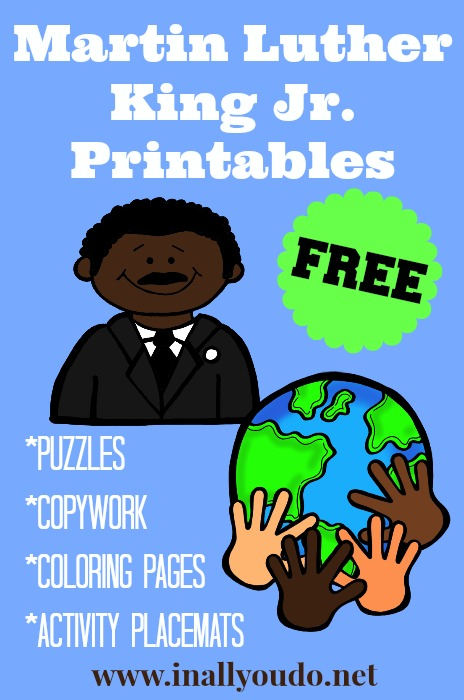 FREE Martin Luther King Jr Printables