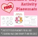 {free} Valentine's Day Activity Placemats