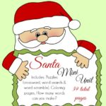 {free} Santa Mini Unit ~ Puzzles, Coloring Pages, MORE!