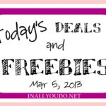 Today's Deals and FREEbies 3/5