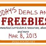 Today's Deals & Freebies 3/8