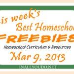 This week's Mega List of Homeschool Freebies & Resources