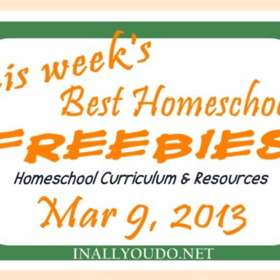 This week's Mega List of Homeschool Freebies & Resources