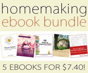 Homemaking ebook Bundle ONE WEEK ONLY ~ $7.40!!!!
