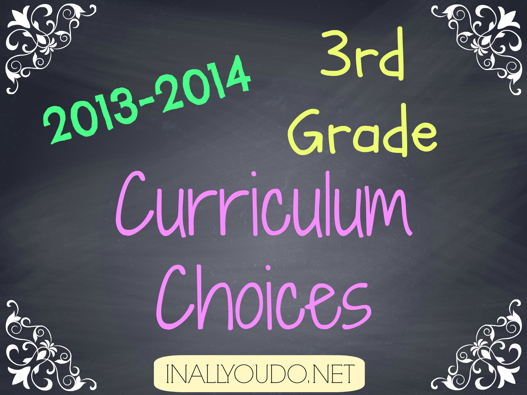3rd grade curriculum choices