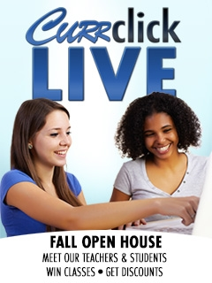 Win a $40 Gift Certificate for LIVE Classes & Open House at CurrClick!