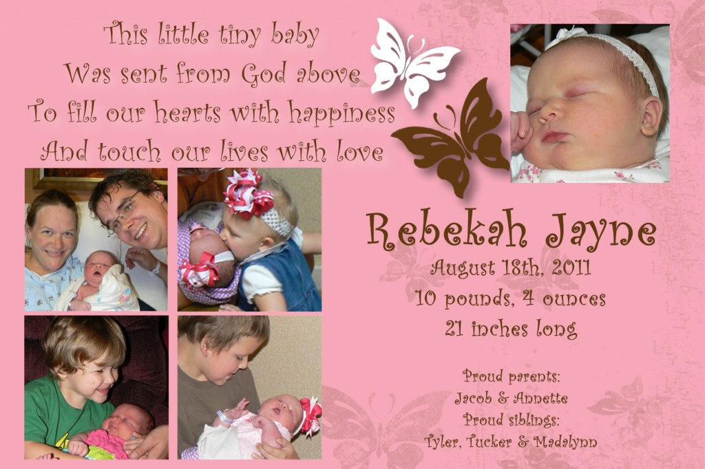First year cards_Bekah birth - Page 002