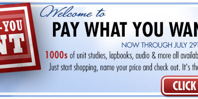 Pay What You Want Sale at CurrClick!!!!
