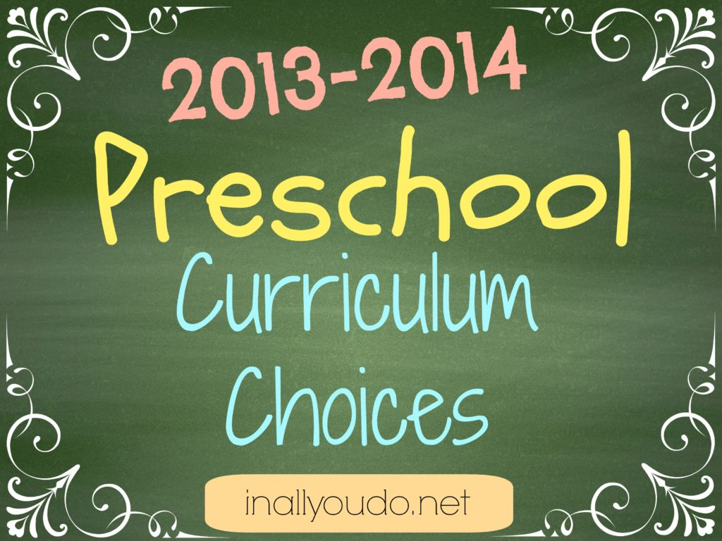 preschool curriculum choices