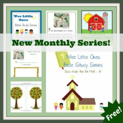 FREE Wee Little Ones Bible Study