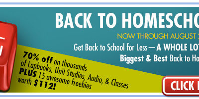 Back to Homeschool Sale at CurrClick through Aug 28th