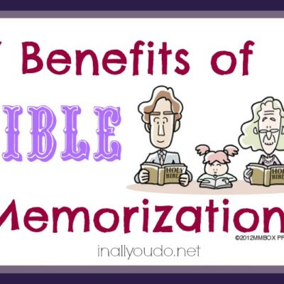 7 Benefits of Bible Memorization ~ Guest Post