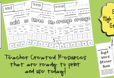 Multi-Sensory Sight Word Practice Set ~ $7.99 (75% OFF)