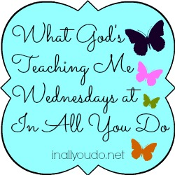 What God's Teaching Me Wednesdays button