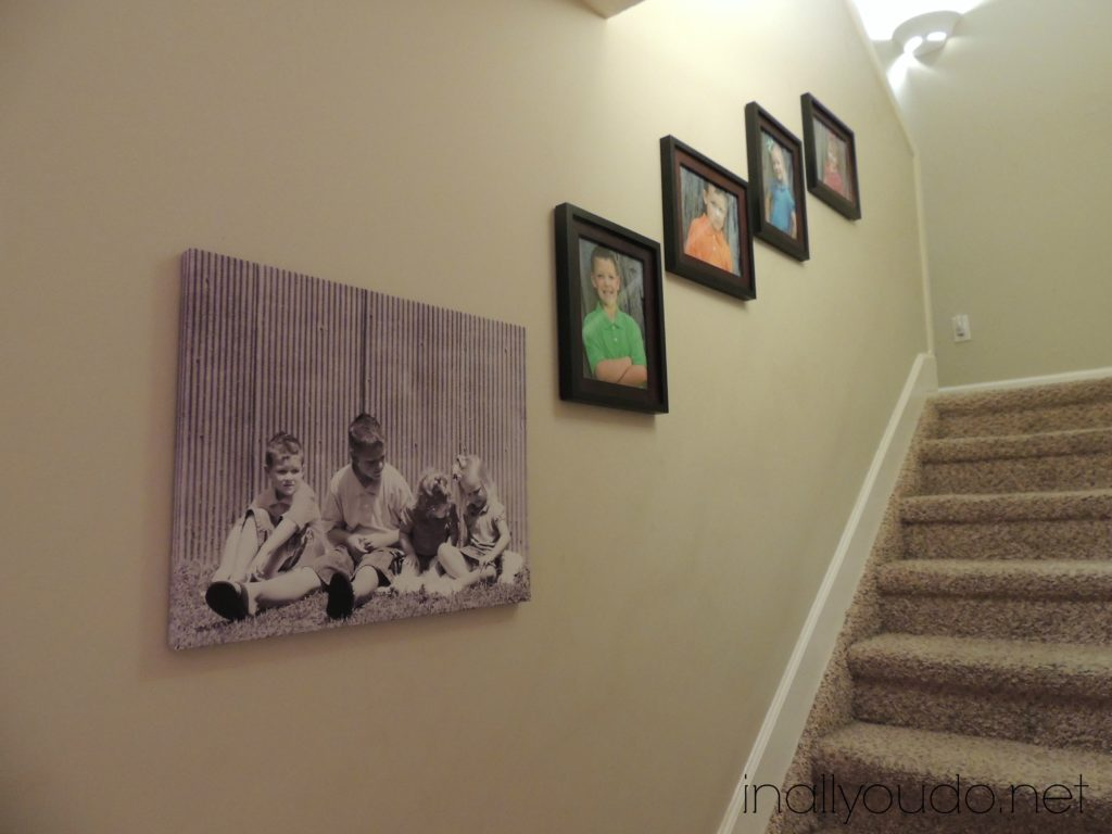 kid pictures hung
