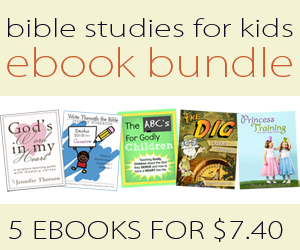 Kids Bible Study ebook Bundle ~ $7.40