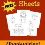 FREE Thanksgiving Coloring Sheets