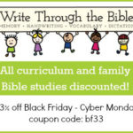 Write Through the Bible ~ Black Friday Sales