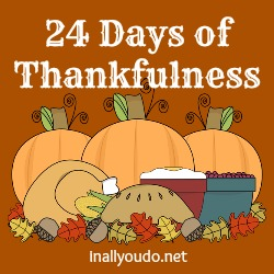 24 Days of Thankfulness ~ Day Two