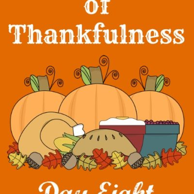 24 Days of Thankfulness ~ Day 8