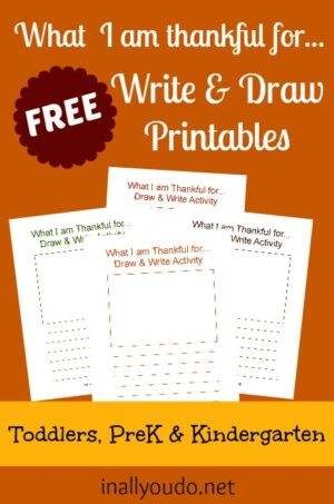 What I'm Thankful For – Write & Draw Activity