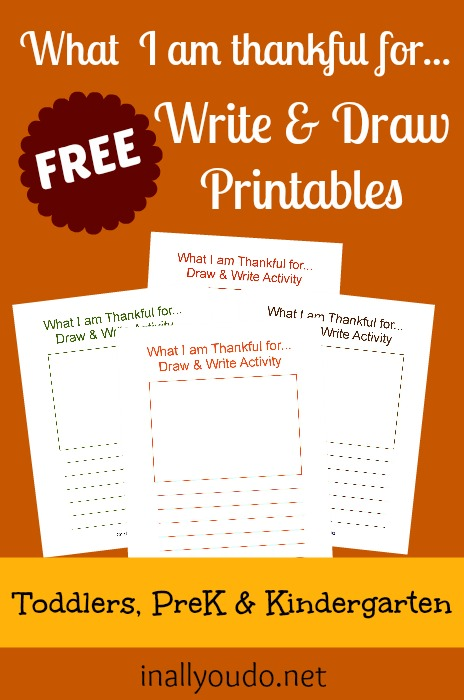 "Do you want your kids to be more thankful and appreciate what they have, rather than wanting more? These ""What I am thankful for..."" printables can help! :: www.inallyoudo.net"