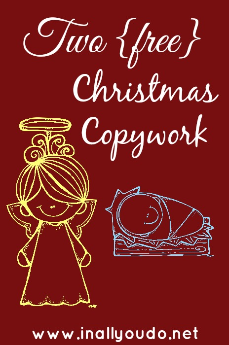 Christmas Copywork pinnable