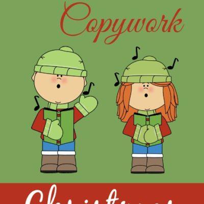 {free} Winter & Christmas Songs Copywork Printables
