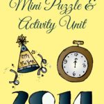 {free} New Year's Eve Mini Puzzle Unit & Party Ideas for Kids