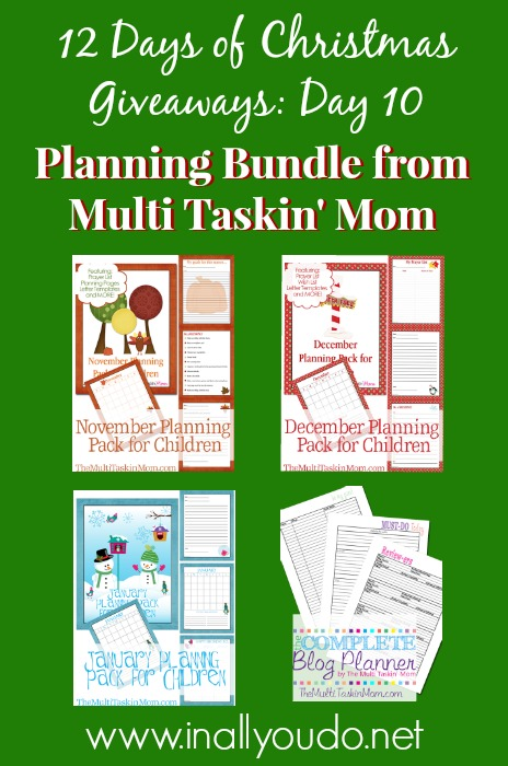 Multi Taskin Mom Planning Bundle Giveway