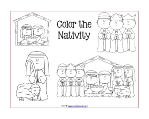 Nativity Activity Placemats