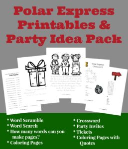 Polar Express Printables & Party Idea Pack