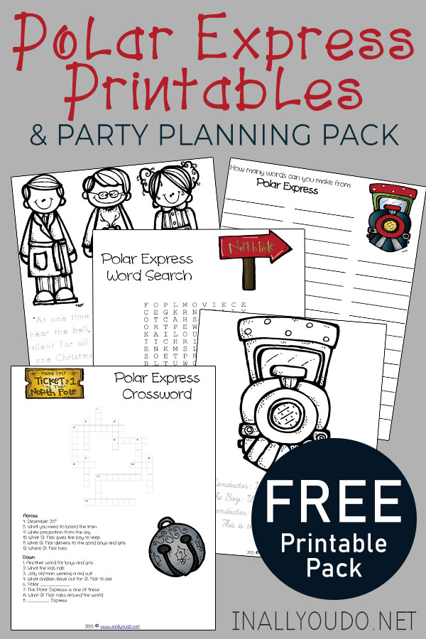 This FUN Polar Express Printables & Party Idea Pack has all you need to have a successful and SUPER FUN Polar Express Party. #PolarExpress #Christmas #iaydhomeschoolers #iaydcommunity
