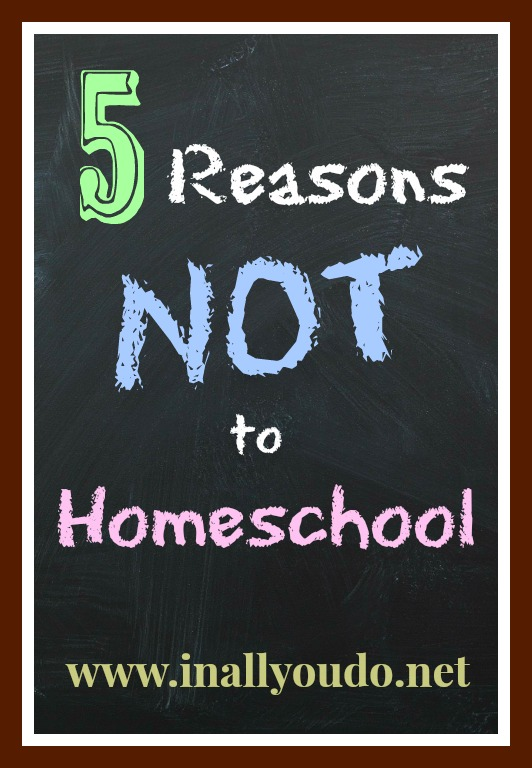 5 Reasons Not to Homeschool