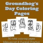 {free} Groundhog Day Coloring Pages