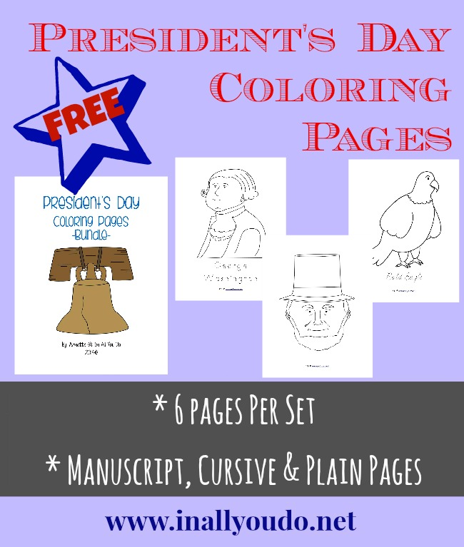 Presidents Day Coloring Pages Freebies