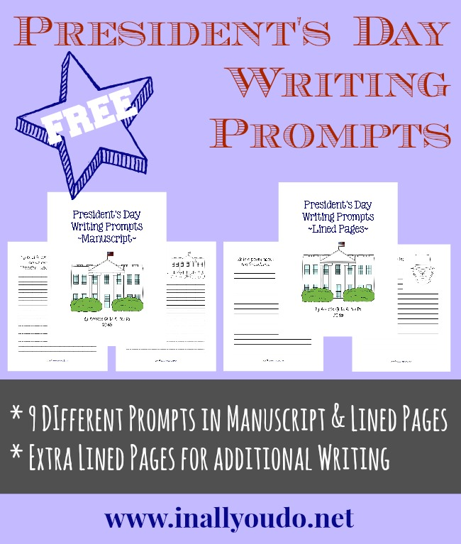 Presidents Day Writing Prompt Freebies