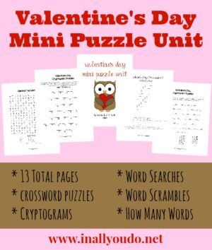 Valentine's Day Mini Puzzle Unit