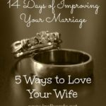 14 Days of Improving Your Marriage: 5 Ways to Love Your Wife