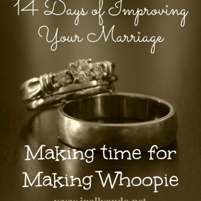 14 Days: Day 8 ~ Making Time for Making Whoopie
