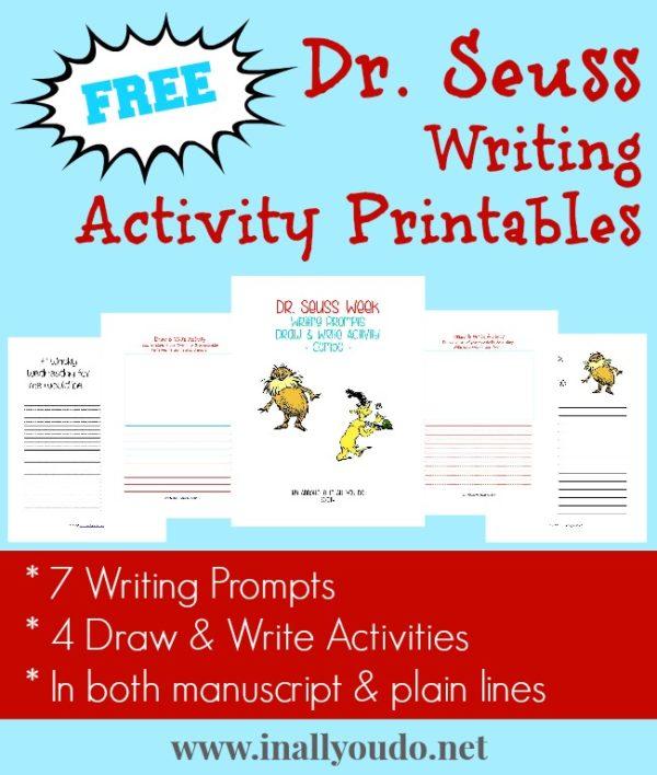 Dr Seuss Inspired Writing Activities