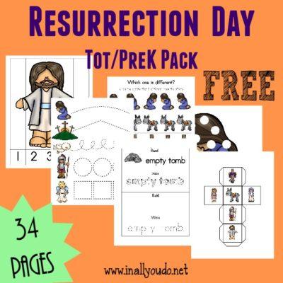 {free} Resurrection Day Tot & PreK/K pack + Emergent Readers