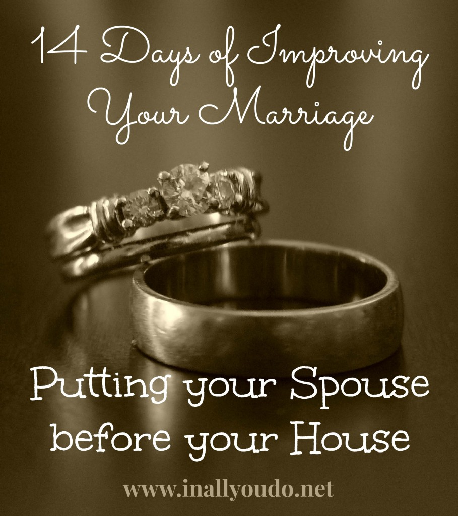 Putting Your Spouse before your House