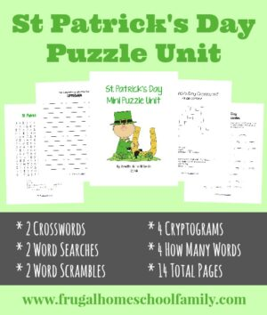 St Patrick's Day Puzzles & Activities Pack